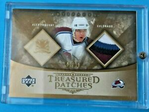 2005-06 UD Artifacts Treasured Patches #TP-AT Alex Tanguay 42/50 4 Colors Patch