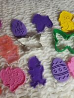 Vintage Easter Hallmark Cookie Cutters Lot of 15 BAKERS SPRING WILTON Baking Vtg