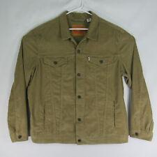 Levi's Strauss & Co. Corduroy Trucker Jacket Beige Men's Size XXL 2XL EUC