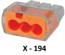 194 IDEAL Plastic Push In Wire Connectors Electrical Insulated Terminal 3 Port
