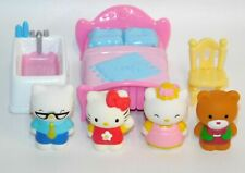 Hello Kitty Lot 4 Figures & More from Victorian Mansion Blue Box Mom Dad Tippy