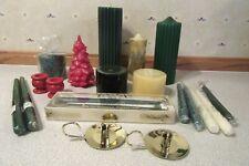 Lot Christmas Candles Holders Bath/Body Longaberger CandleLite Carolina Hallmark