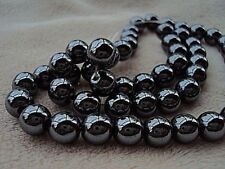 """Hematite Round Beads 8mm. 16"""" Strand.  Approximately 51 Beads. Non Magnetic."""
