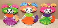 DIA DE MUERTOS CATRINA  PARTY SUPPLY DECORATION FOAM FIGURES 10 PACK HALLOWEEN
