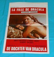 original DRACULA'S DAUGHTER Belgian movie poster