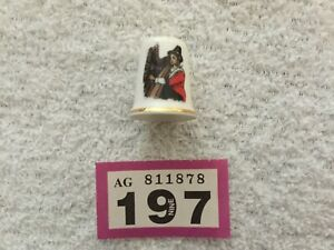 197# Holland Harp Vintage Thimble China Collectable Sewing Fabric Textile Advert
