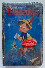 Walt Disney's Pinocchio 239 V Black Diamond Padded Clamshell VHS SEALED NEW
