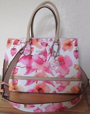 GUESS Marciano Pink White Berry Multi RADIANT Flower Satchel Bag Purse NWT