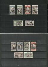 Tanger (span), 1946/48, 2 Sätze Telefgrafenmarken gestempelt