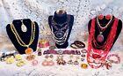 Vintage & Modern Warm Tones Costume Jewelry Lot - Avon, Sweet Romance