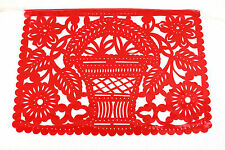 Set of three (3) party fiesta theme Mexican papel picado banners bunting paper