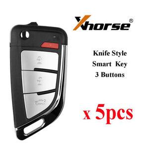 5 pcs Xhorse XKKF20EN Universal Wire Remote Key Smart Key Memoeial 3 Buttons