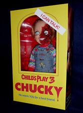 "CHILD'S PLAY 3 TALKING CHUCKY 15"" ""GOOD GUY PIZZA FACE MEGA DOLL Sound  Mezco"