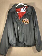 Vtg 90s Atlanta Braves Jacket Windbreaker Mens Large Lightweight embroidered