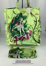 Prada X James Jean Fairy Print Lime Green Edition Met Museum Tote Bag w Pouch