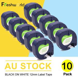 91330 Compatible Dymo LetraTag Label Tape Plastic 91331 Refills LT-100H 12mm x4m