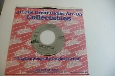 MICHAEL JACKSON SHE'S OUT OF MY LIFE/THE JACKSONS LOVELY ONE. COLLECTABLES LOGO.