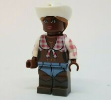 **NEW** Custom Printed Country Western City Block Minifigure COWGIRL OUTFIT