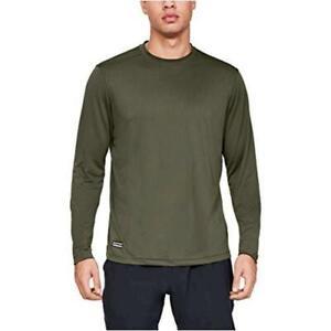 Under Armour Mens Tactical Tech Long-Sleeve Shirt, Marine Od Green (390), Size