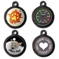 Cute Fun Pet Dog Cat ID Collar Tag - Engraved FREE - Pet Tags - Pet Name Tags