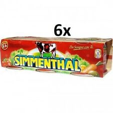 18x SIMMENTHAL beef meat in aspic 3x 90g 100% Italian meat
