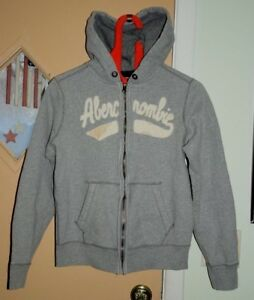 Abercrombie Full Zip Hoodie Boys Sz XLARGE Gray Good Condition