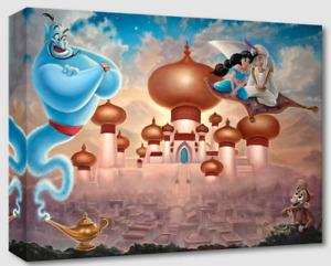 Disney Fine Art Treasures On Canvas A Whole New World-Aladdin- Jared Franco