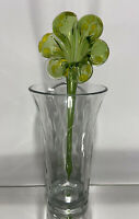 Stunning Vintage Hand Blown Murano Art Glass Long Stem Flower #4