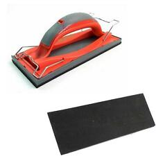 FAITHFULL HAND SANDER 223 X 85MM EASY CLIP PAPER RELEASE SOFT GRIP HANDLE