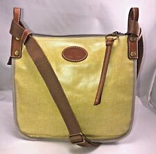 FOSSIL Coated Yellow Canvas Convertible Crossbody  EUC  #8