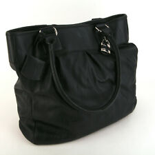 "Worthington Black Faux Leather Hobo Shoulder Bag Purse 14"" High 13"" Wide 4"" Deep"