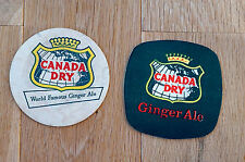 2 x Vintage Beermat Coaster  Canada Dry from the '60's