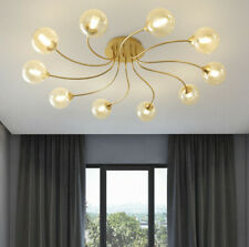 LED Cognac Glass Ceiling Light Restaurant Living Room Chandelier pendant Lamp