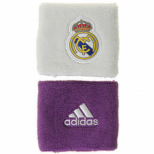 Adidas Real Madrid Wristbands Sweatbands Football Soccer White/Purple S94901