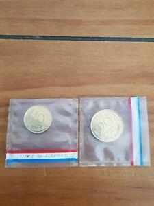 Lot Marianne Piéfort 10 et 20 centimes 1962