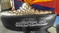 Custom Beach Cruiser Comfortable Bicycle Seat  Soul reflective logo