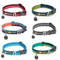 Ruffwear Crag Dog Collar - All Colours - Reflective Webbing, Aluminum V-Ring