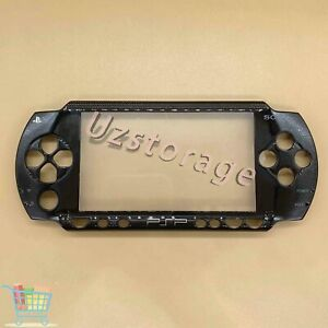 Black Faceplate Front Cover Case For Sony PSP 1001 PSP 1000 Replacement Shell