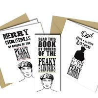PEAKY BLINDERS CARD / WOOD HEART / CHRISTMAS / BIRTHDAY / MAGNETIC BOOKMARK