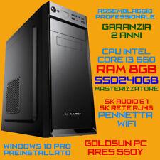 COMPUTER ASSEMBLATO PC FISSO DESKTOP INTEL Core i3-550 RAM 8GB SSD240GB DVD-RW