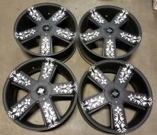 KMC Wheels / Rims 22 inch 5X115 / 5X120 +30MM MATTE BLACK MACHINE