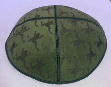 Suede Kippah with Frogs Jewish gift for Pesach, Passover unique Leil Seder Gift
