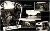 Ebnisee in Kaiserbach Mehrbildkarte 1960 gelaufen Waldpartie See Ruderboot u.a.