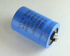 New 2 pcs of Sprague 36DX series 940uF 200V large can screw terminal capacitors