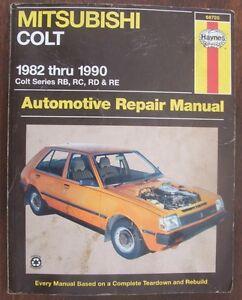 Mitsubishi Colt 1982-1990 RB RC RD RE Haynes Manual