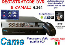 DVR SORVEGLIANZA CAME 8 CH IPHONE ANDROID AUDIO VIDEO LAN VGA USB H.264