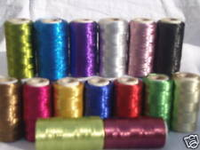 15 Metallic Thread Spools 15 Different Colours 400 Yards Each