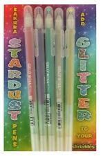 Pack 5 Sakura Stardust Brillo Bolígrafos De Gel De Colores Variados Shrink Arte shrinkles