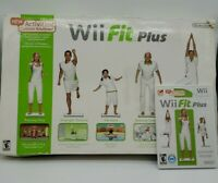 Nintendo Wii Fit Balance Board Bundle with Wii Fit Plus in Original Box