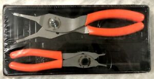 New Snap-on 2 Pc ORANGE Convertible Snap Ring Plier Set Part Number SRPC1020